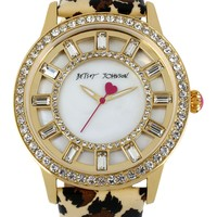 Betsey Johnson   Women's Animal Print Leather Cry Watch   Nordstrom Rack