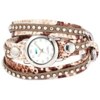 La Mer Collections Women's LMSW5007 Army Snake Bali Studs Wrap Watch - designer shoes, handbags, jewelry, watches, and fashion accessories | endless.com