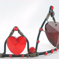 Queen of Hearts Tiara Red and Black Crown