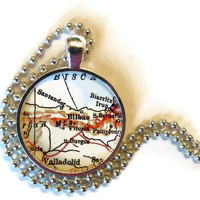 Bilbao, Spain necklace pendant charm: Spain map jewelry charms style 1 of 2