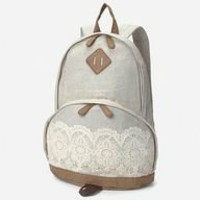 vintage lace backpack