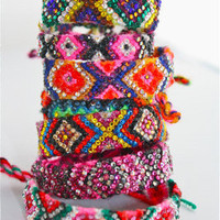 Swarovski Crystal Encrusted Friendship Bracelets by DolorisPetunia
