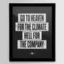 Hell For The Company Black 12x16 Screenprint by nickagin