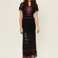 Free People Fairytale Crochet Maxi
