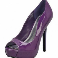 PURPLE MUST-HAVE GLOSSY PUMP @ KiwiLook fashion