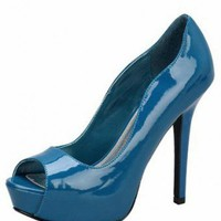 TEAL MUST-HAVE GLOSSY PUMP @ KiwiLook fashion