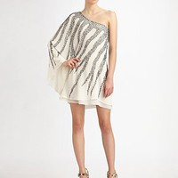 Alice + Olivia - Beaded One-Shoulder Dress - Saks.com