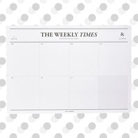 Poketo 'The Weekly Times' Desk Notepad & Planner