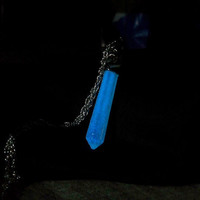 Magical Glowing Crystal Necklace - From Disney's Atlantis: The Lost Empire - Glow in the Dark Opal on Silver Chain