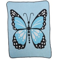 Butterfly Kisses Throw Blanket - Coordinating Organic Onesuit Available