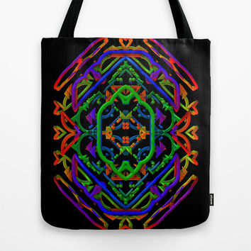 Neon Doodle Tote Bag by Lyle Hatch