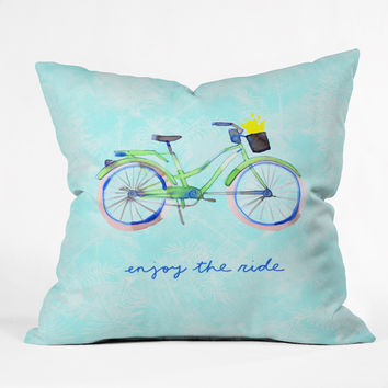 "CayenaBlanca Enjoy Your Ride Throw Pillow - Indoor / 26"" x 26"" / Pillow Cover Only"