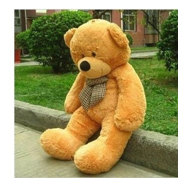 "Big Huge Giant 48""Stuffed Plush Teddy Bear Toy Animal Doll brown/XMAS lover gift"