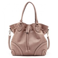 Sole Society Shirley Drawstring Hobo W/ Piping
