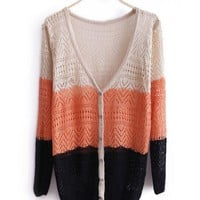 Autumn Women New Style Sweet V Neck Cute Fashion Long Sleeve Loose Ivory Knitting Sweater One Size@WXM961i $12.99 only in eFexcity.com.