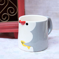 paddling penguin jug mug - $19.99 : ShopRuche.com, Vintage Inspired Clothing, Affordable Clothes, Eco friendly Fashion