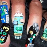 Tooth & Nail (Art) Super Mario Nails ?