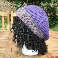 Womens Hat Crocheted Hat -  The Classic Slouchy Hat  in two tones - Crochet Hat - Fall, Winter Accessories
