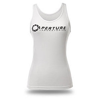 ThinkGeek :: Chell's Aperture Tank Top