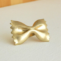 Golden Farfalle Ring [3189] - $9.00 : Vintage Inspired Clothing & Affordable Summer Dresses, deloom | Modern. Vintage. Crafted.