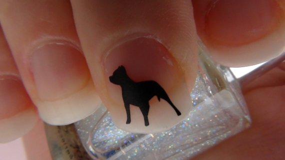 Pit Bull Nail Art Decals Set of 50 Vinyl Stickers Applique Manicure Pedicure Party Event Accessories