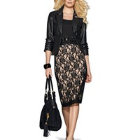 Lace Pencil Skirt at Newport-News.com