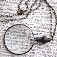 Monocle Necklace - $27.00 : RagTraderVintage.com, Vintage Reborn!