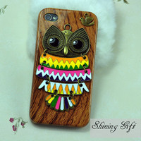 Cute OWL Case Cover for  iPhone 4 Case, iPhone 4s Case, iPhone 4G Hard Case, iPhone Case