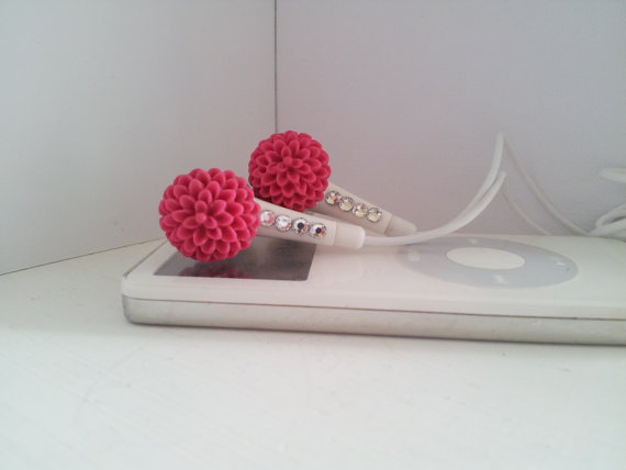 Petite Watermelon  Chrysanthemum  Earbuds