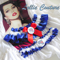 New York Rangers Garters - NY Rangers - Wedding Garters