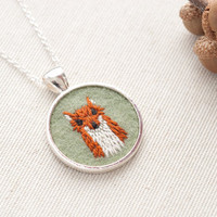 Fox Necklace Embroidered Felt InStyle Magazine
