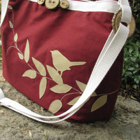 Cranberry Delight Larger shoulder bag with by LBArtworks on Etsy