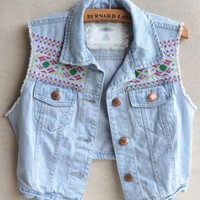 Vintage Embroidery Vest $43.00