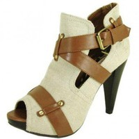 BEIGE PEEP TOE BOOTIE @ KiwiLook fashion