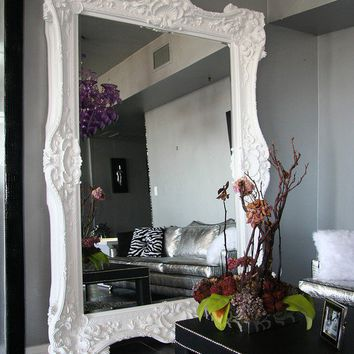 [sold]  Best Seller Floor Mirror Italian Baroque Rococo by DRGinteriors