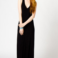 Audrey Racerback Maxi in Black | a-thread