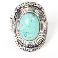 Turquoise Shield Ring | a-thread