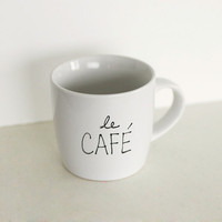 Le Café Mug by littlecassalina on Etsy