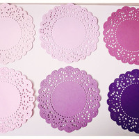 6 Parisian Lace Doily Purples / Pac.. on Luulla