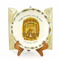 Vintage Holly Hobbie Christmas 1972 Collectible Commemorative Plate NOS