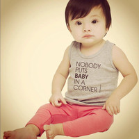 Nobody Puts Baby In A Corner - Custom Baby Tank - FREE SHIPPING
