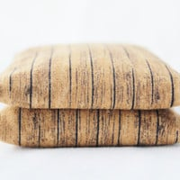 Weathered Brown Wood Balsam Sachets Rustic Contemporary Natural Home Decor Set of 2