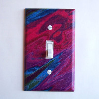 Aurora Borealis Single Toggle Switchplate Switch Plate