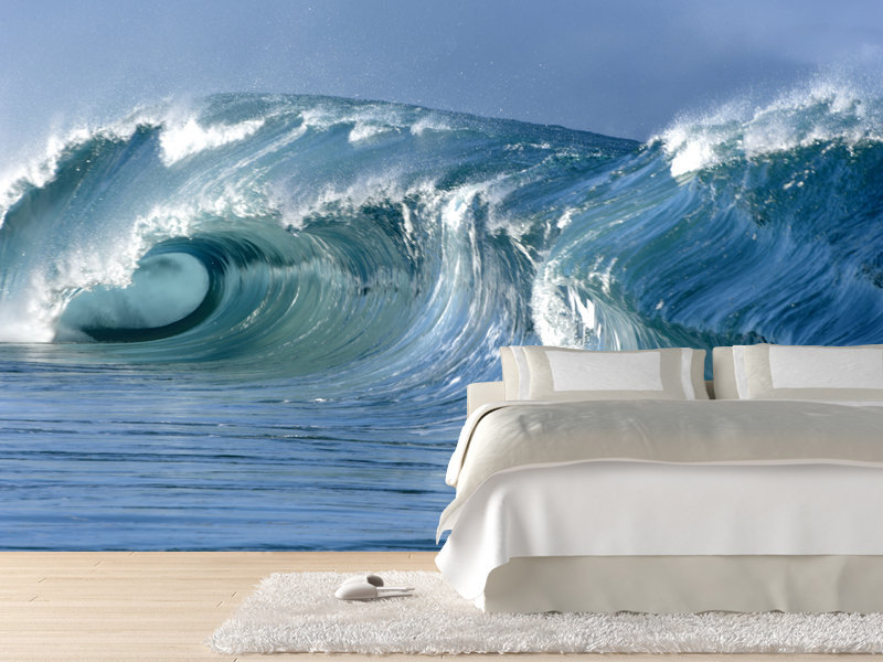 wave wall mural eazywallz from eazywallz com wall needs wave effect wall mural wall murals ireland