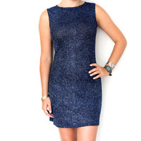 Vintage Blue Sparkle Dress