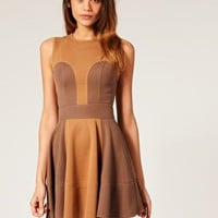 ASOS | ASOS Ponti Waisted Dress with Contrast Panel at ASOS