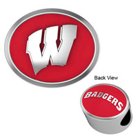 CB-133C Wisconsin Badgers Enamel Collegiate Bead