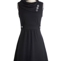 Coach Tour Dress in Noir