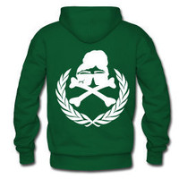 Natural Hair Rebel Royalty Hooded Sweatshirt-Forest Green