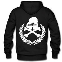 Natural Hair Rebel Royalty Hooded Sweatshirt-Black